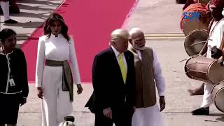 it-s-a-party-hundreds-of-thousands-of-indians-welcome-us-president-donald-trump-on-his-first-tour