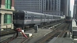 Trains of Downtown Chicago - July 17 1991