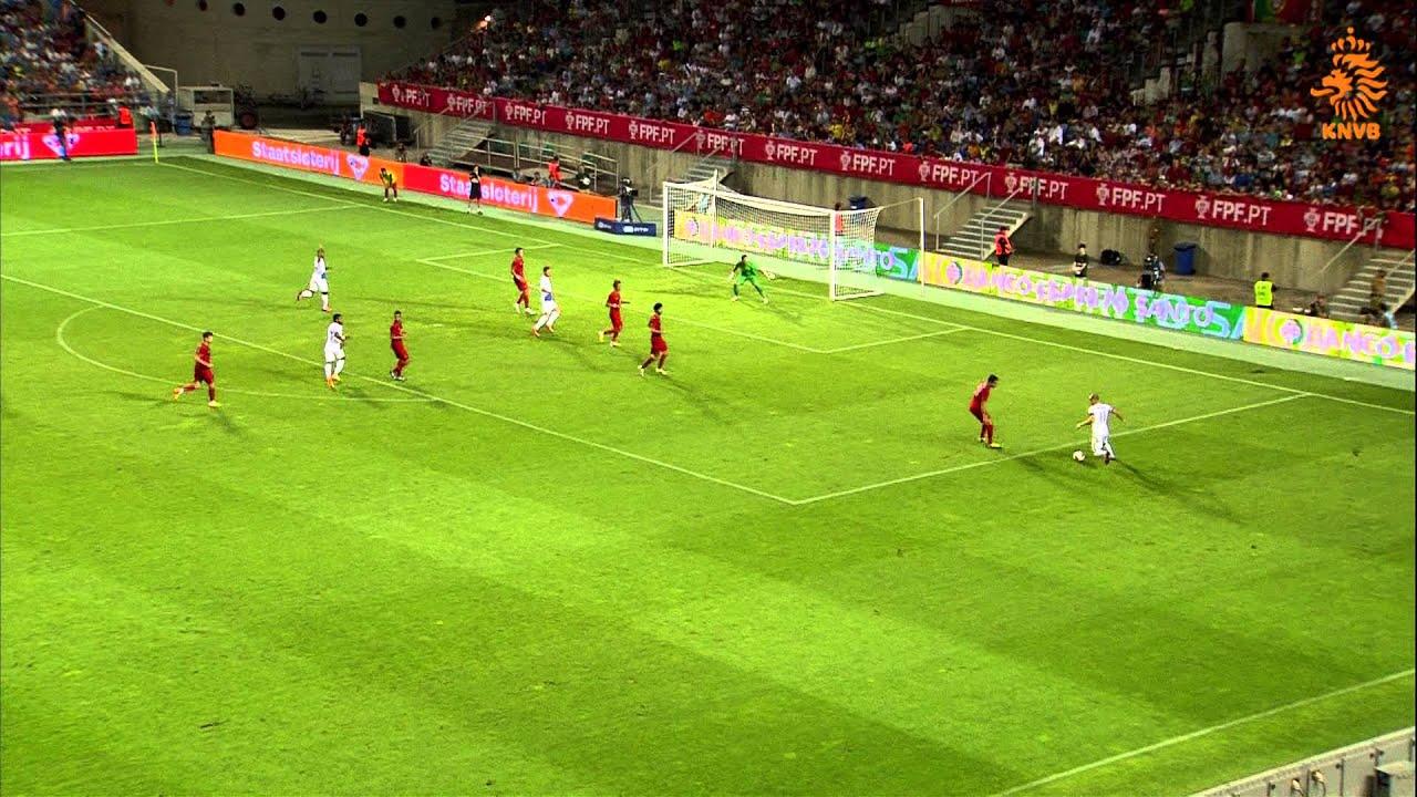 Highlights Portugal - Nederland (1-1) 14-08-2013 - YouTube