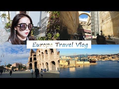 Europe Travel Vlog│跟我一起搭郵輪玩地中海(義大利、法國、西班牙、馬爾他)