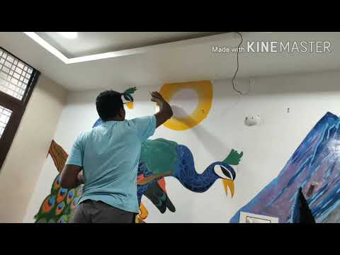 PEACOCKS 3D WALL PAINTING //RANJITH 3D PAINTS artist s
