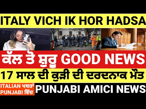 24/01 ITALIAN NEWS IN PUNJABI TRANSLATED BY PUNJABI AMICI