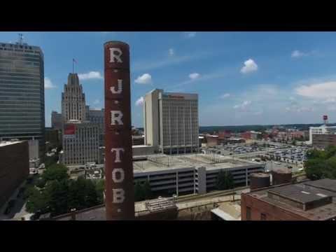 Aerial/ Ground Footage Of Downtown Winston Salem, NC