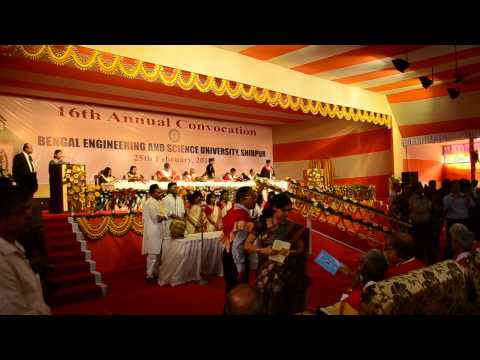 16th Annual Convocation of Bengal Engineering & Science University, Shibpur, 2014 - Part 1