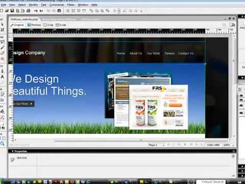 Tutorial on How To Take a Website From Mock Up to HTML with Adobe Fireworks