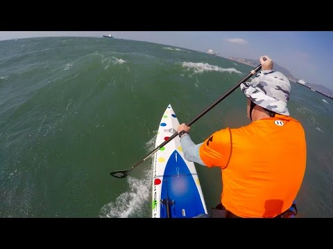 SUP Downwinding - East Lamma Channel Part 1