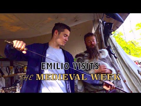 Emilio visits the Medieval Week