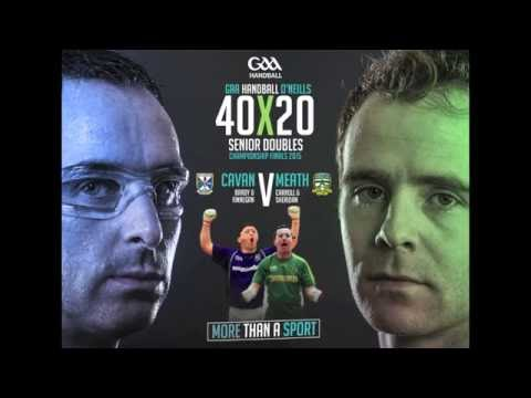 2015: Sheridan/Carroll v Brady/Finnegan - All-Ireland Mens 40x20 Doubles Final