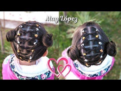 Peinado Facil Para Ninas Con Ligas Cabello Recogido Peinados