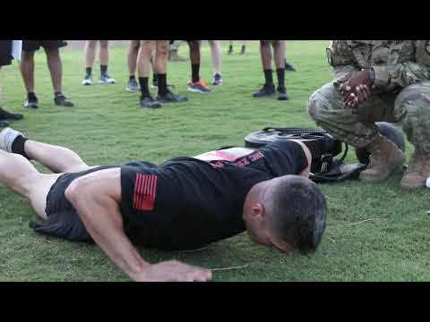 Maj. Timothy Cox Takes The Army Combat Fitness Test