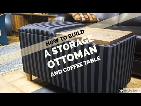 How to DIY: An Ottoman and Coffee Table with Storage