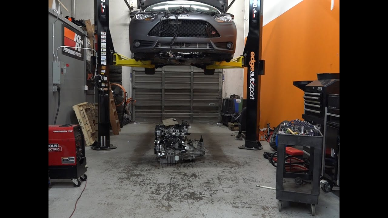 2010 ford focus engine removal
