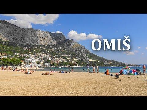 Omiš (town and beach)  Croatia | (4K Ultra HD)