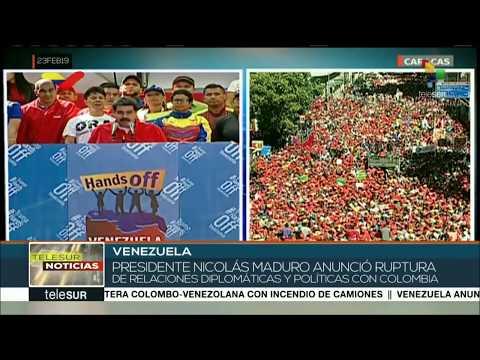 #23Feb Zigtausende demonstrieren in #Venezuela für Frieden - Forderung: #HandsOffVenezuela