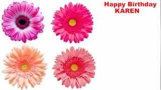 Karen - flowers - Happy Birthday