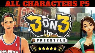 3on3 FREESTYLE WHO TO PRESTIGE, UNLOCK GLITCH TRY ALL CHARACTERS PRESTIGE 5 P5