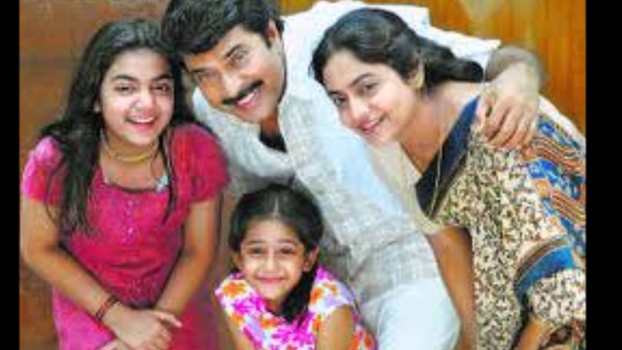 Malayalam Star Mammootty With Family Wife And Kids