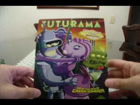 Unboxing a Futurama DVD: Into the Wild Green Yonder