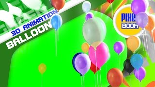 Green Screen Balloons Flying in the Sky - Footage PixelBoom