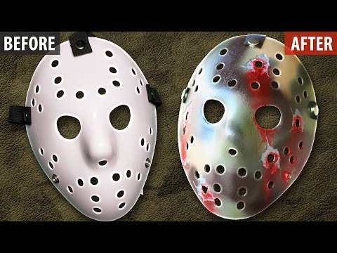 How to Make an Army Style Jason Mask - Friday the 13th DIY Tutorial