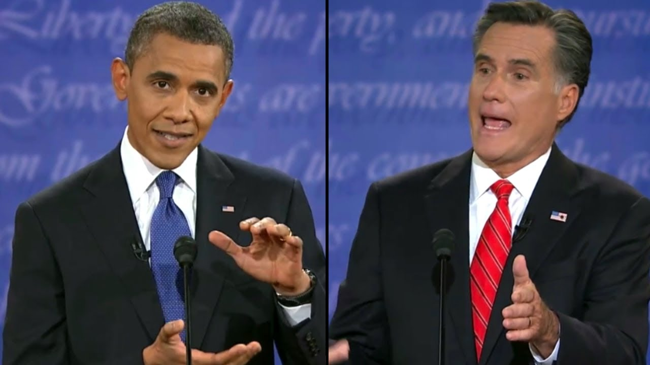 Image result for obama romney debate