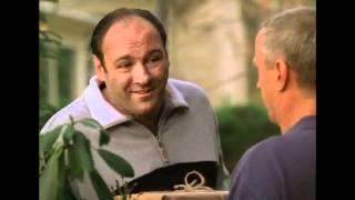 The Sopranos. Tony gives a box of sand to Cusamano