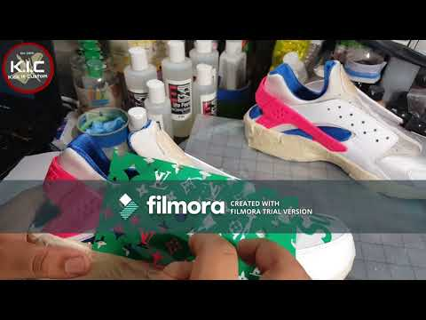 220c353ef HOW TO  DIY Supreme X Louis Vuitton Custom Shoe Tutorial