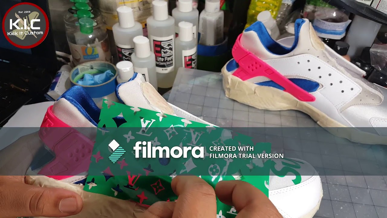 a743777f071 HOW TO  DIY Supreme X Louis Vuitton Custom Shoe Tutorial - YouTube