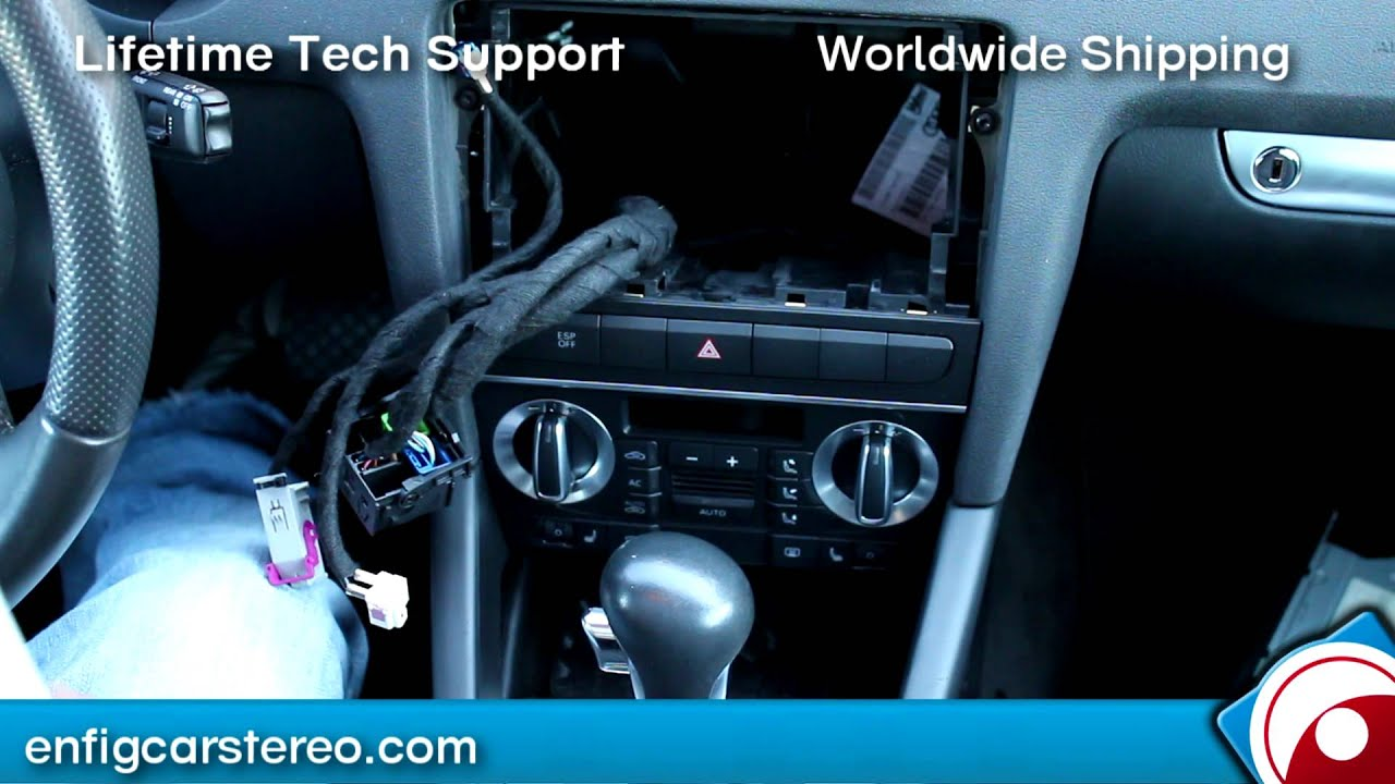 how to audi a3 2009 2012 rns e navigation ipod iphone aux. Black Bedroom Furniture Sets. Home Design Ideas