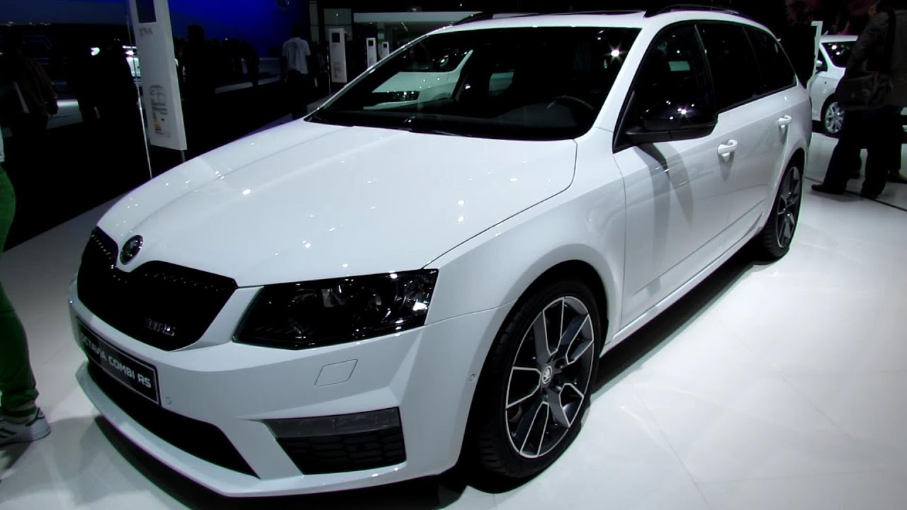 2014 Skoda Octavia Combi RS - Exterior and Interior Walkaround - 2013 Frankfurt Motor Show - YouTube