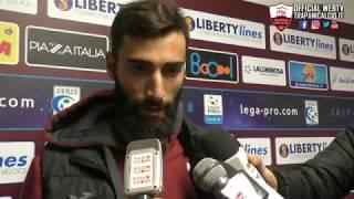 Trapani-Cosenza 1-2. Legittimo e Rizzo dopo la gara 17.12.17 ©Trapanicalcio.it