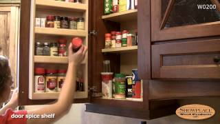 Spice rack in a wall cabinet - Showplace kitchen convenience accessories