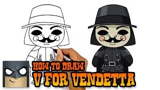 How to Draw V for Vendetta | Awesome Step-by-Step Tutorial