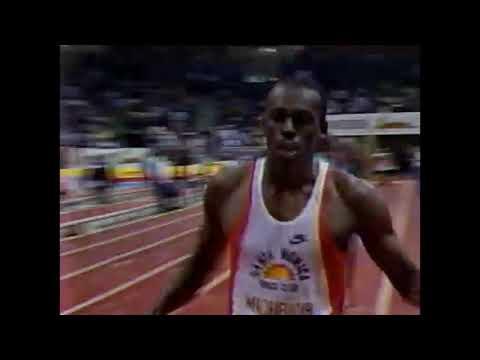 Men's 60m Dash - 1987 Michelob Indoor Meet - San Diego