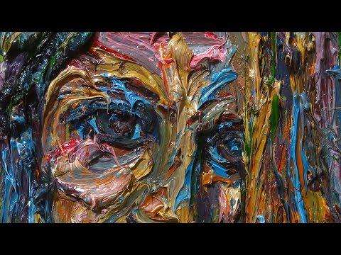 m944 - original oil painting large expressionism art realism arts portraits at deco impasto unique