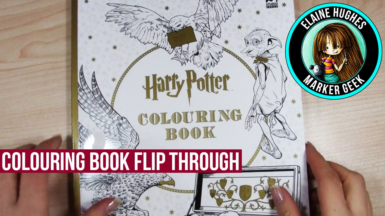 Harry Potter Colouring Book Flip Through