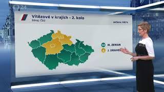 Prezidentské volby 2018 - Výsledky v regionech