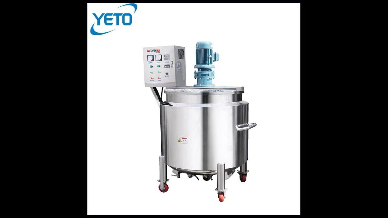 Open Cosmetic Mixer Tank Shampoo Making Machine Handwashing Mixing Equipment