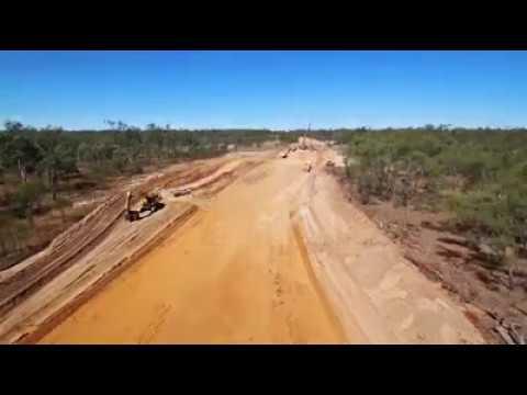 BHP Dragline Move Around Mackay Mining Community