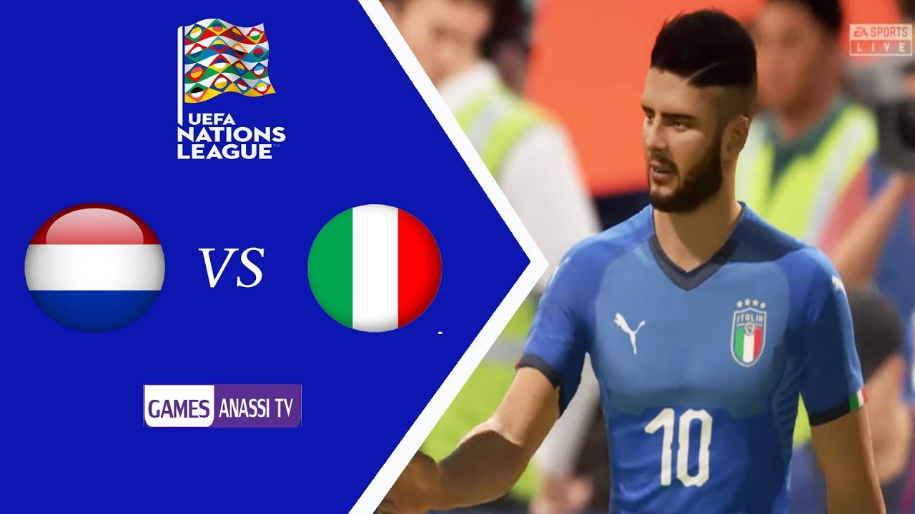 Netherlands Vs Italy Uefa Nations League 2020 Gameplay Hd Fifa 2021 Youtube
