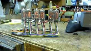 Nixie Clock -- In-8-2 Tubes -- Pv Elec's Dink Kit