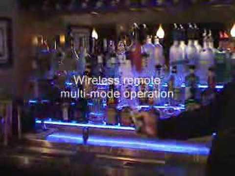 LED Lighted Bar Shelves - YouTube