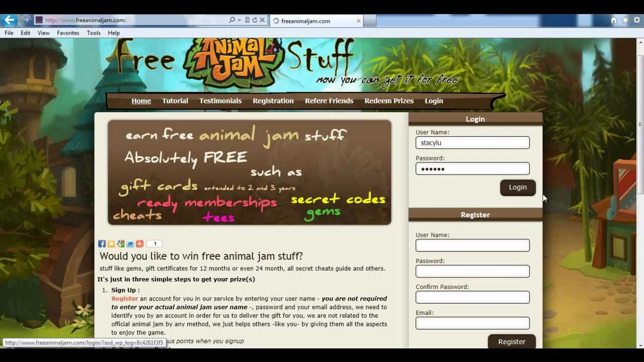 Get Free Animal Jam Gifts Gift Certificates, Gems, Membership ...