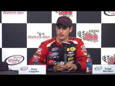 NASCAR Xfinity Media interview Watkins Glen winner Joey Logano - Let's Talk Racing