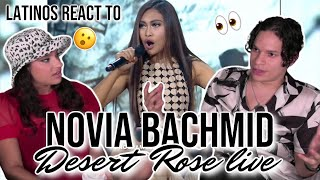 Latinos react to NOVIA BACHMID cover of Desert Rose by Sting ft Cheb Mami in Indonesian Idol 😲