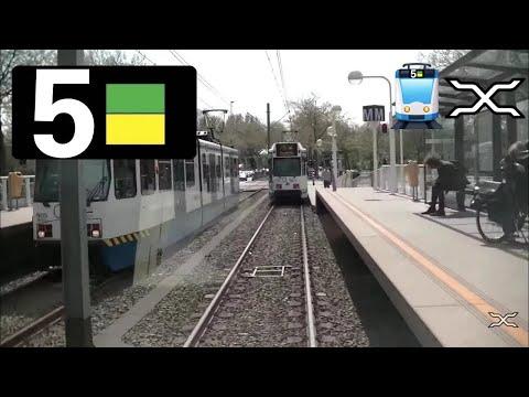 🚋 GVB Amsterdam Tramlijn 5 Cabinerit Centraal Station - Amstelveen Stadshart Driver's view 2015