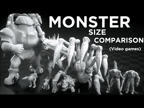 Monsters Size Comparison (Video Games)