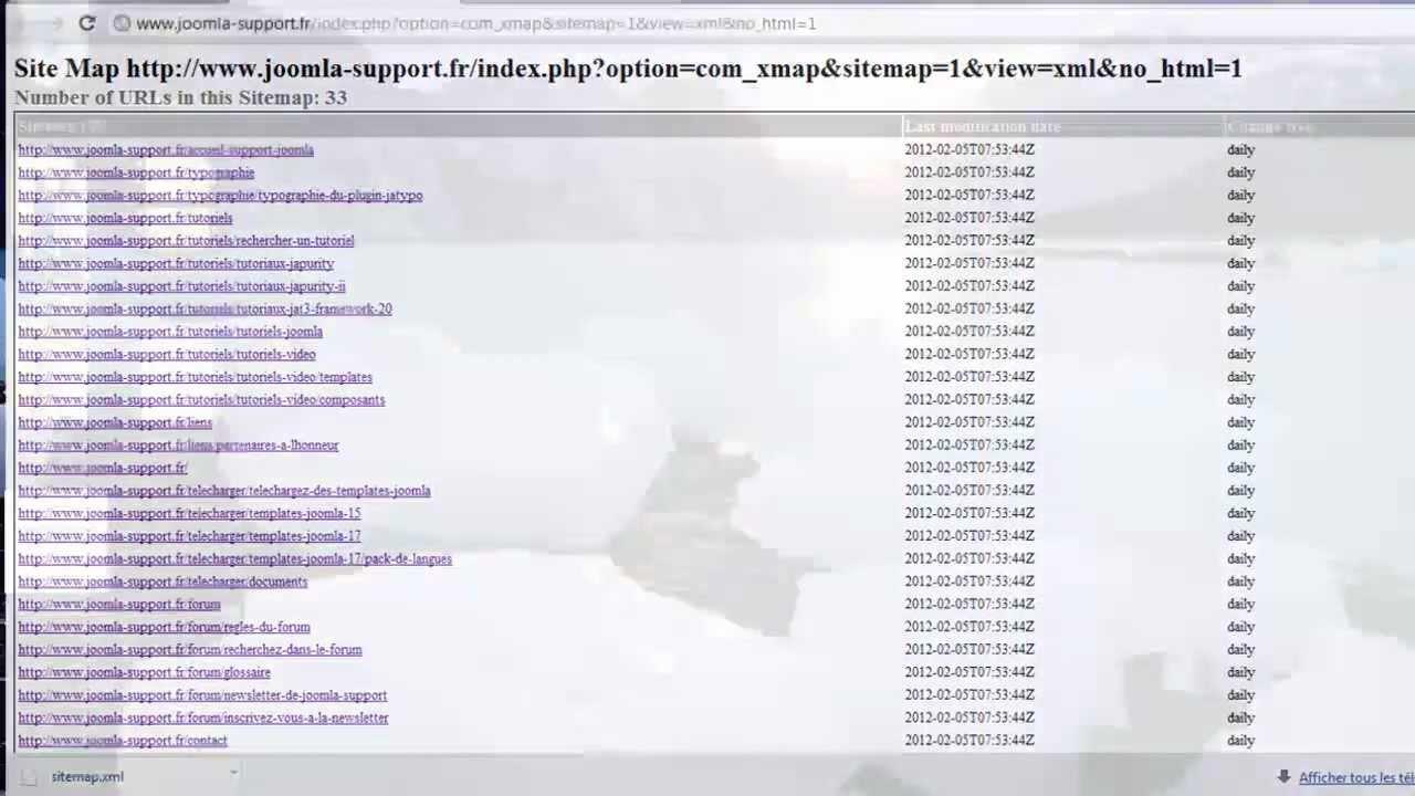 envoyer un fichier sitemap xml à google webmaster tools avec xmap