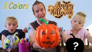Alexa Chooses My Colors! 3 Marker Halloween Pumpkin Challenge!