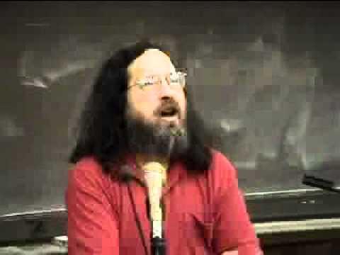 Richard Stallman, Free Software Lecture, Australian National University, 2004